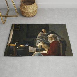 Johannes Vermeer - Girl Interrupted at her Music Rug