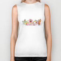 party Biker Tanks featuring PARTY! by Jesse Robinson Williams