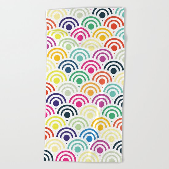 Colorful Circles II Beach Towel