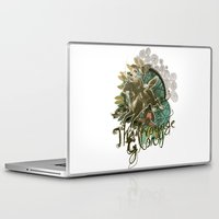voyage Laptop & iPad Skins featuring VOYAGE by TOO MANY GRAPHIX