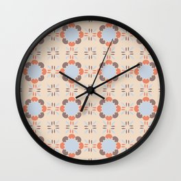Blue Retro Tile Wall Clock