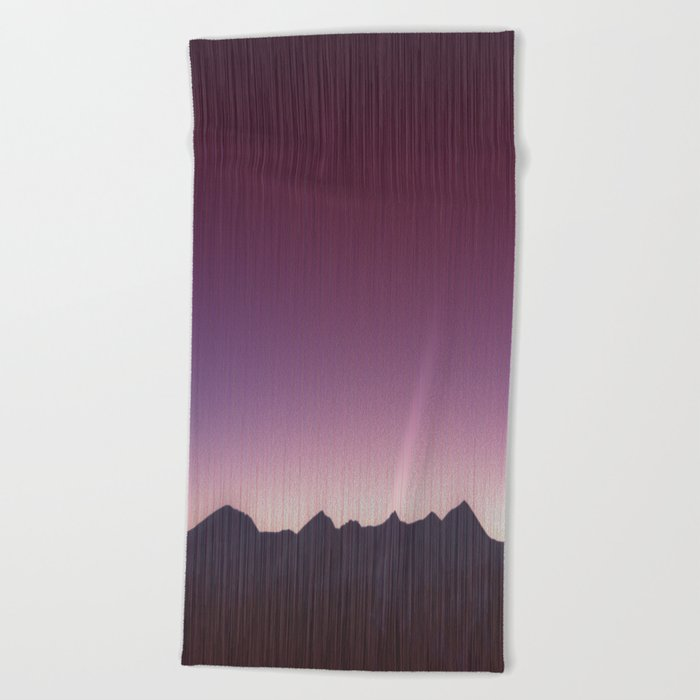 Pink mountains Beach Towel