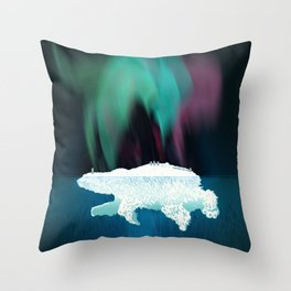Polar Ice Throw Pillow