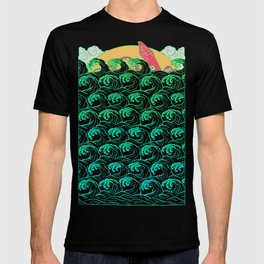 Squid on the waves T-shirt