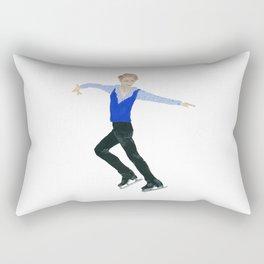 The boy in the blue vest. Figure skater. Rectangular Pillow