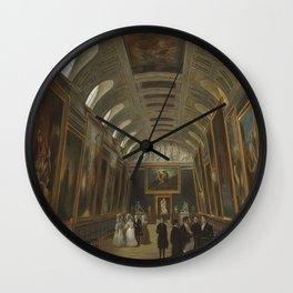 Auguste Jean Simon Roux - Louis-Philippe visiting the Luxembourg Museum.jpg Wall Clock