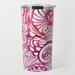 Summertime and the livin's easy (Pink) Travel Mug