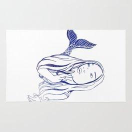 Blue Mermaid Rug