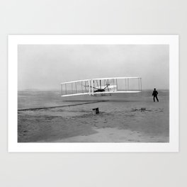 Wright Brothers First flight Kitty Hawk North Carolina December 17 1903 Art Print
