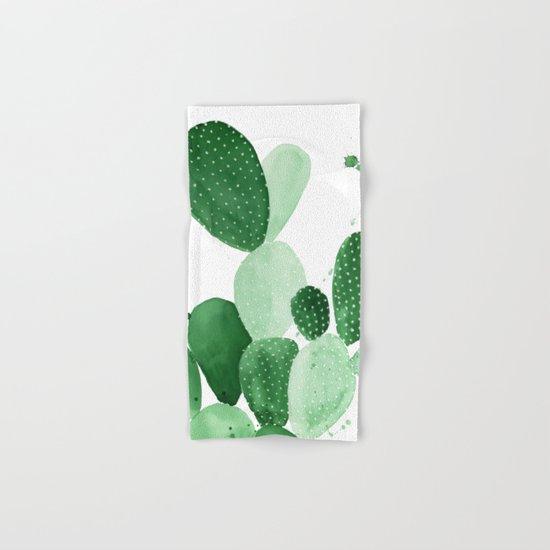 Green Paddle Cactus II Hand & Bath Towel