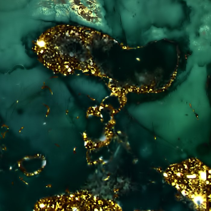 Gold Indigo Malachite Marble Leggings