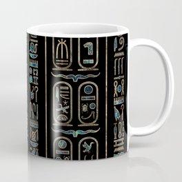 Egyptian hieroglyphs pattern Gold Abalone Coffee Mug
