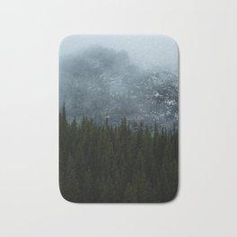 Foggy Mountain View Bath Mat