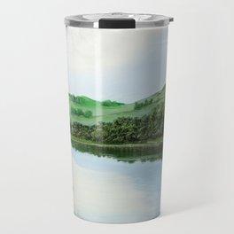 non-mirrored mountains Travel Mug