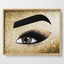 Gold Lashes Eye Serving Tray