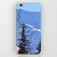 skiing iPhone & iPod Skins featuring Back-Country Skiing  - V by Alaskan Momma Bear