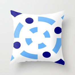 Circle and abstraction 12- blue abstract,geometric,geometrical,circle,sphere Throw Pillow