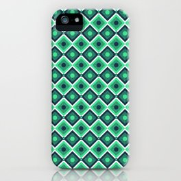 Checkered pattern design art iPhone Case