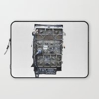 military Laptop Sleeves featuring Vintage Military Radio  by TomConwayArt