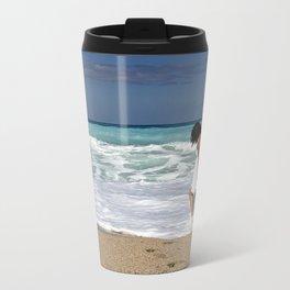 Sea Beach Metal Travel Mug