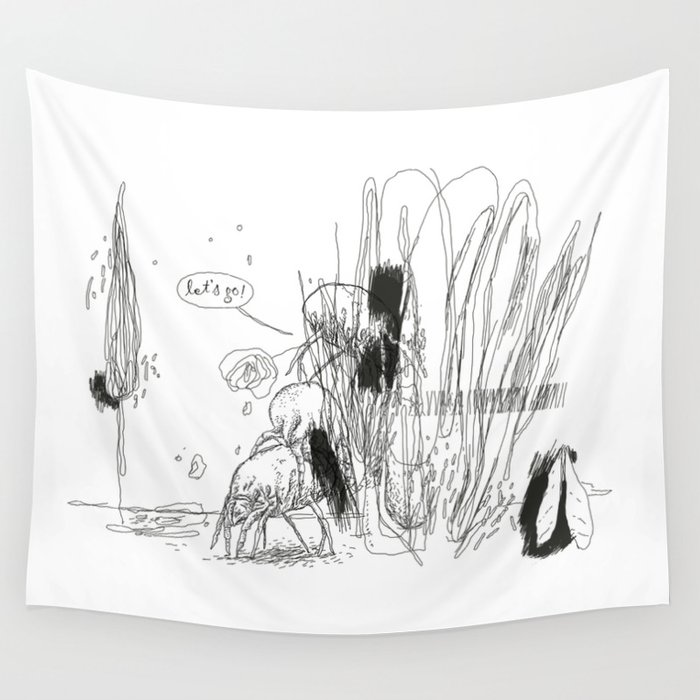 Acarism Letsgo Wall Tapestry