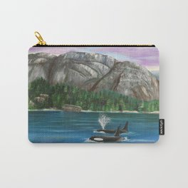 Orcas at the Chief Carry-All Pouch