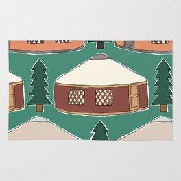 Cozy Yurts -n- Pines Rug