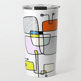 """""""Les Fleurs Du Mal - 1"""" Modern Artwork (2018) Travel Mug"""
