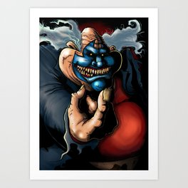 Get Down With the clown Art Print