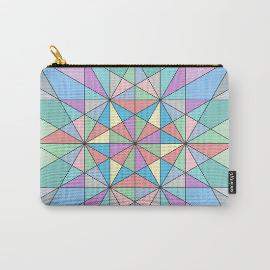 Colorful Pastel Mosaic Triangle Star Carry-All Pouch