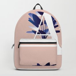 Blue China Palms Letter 'A' Backpack