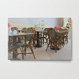 French Cafe in California Metal Print