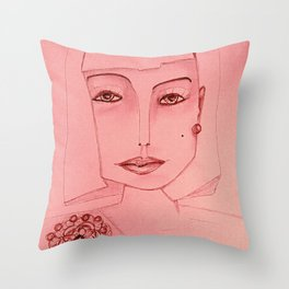 Emerald Brooch Throw Pillow