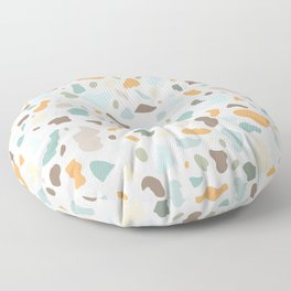 Colorful smooth stones terrazzo pattern Floor Pillow
