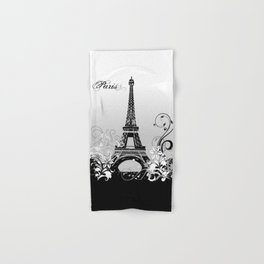 Eiffel Tower Paris (B/W) Hand & Bath Towel