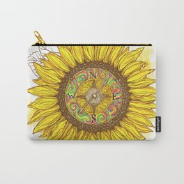 Sunflower Compass Carry-All Pouch