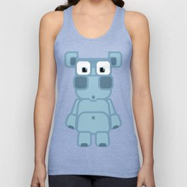 Super cute cartoon blue pig - bring home the bacon with everything for the pig enthusiasts! Unisex Tank Top