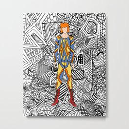 Heroes Fashion 1 Metal Print