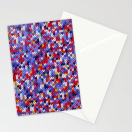 Knitted multicolor pattern 2 Stationery Cards