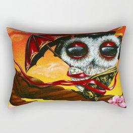 geisha owl Rectangular Pillow