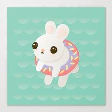 Doughnut Bun Canvas Print