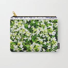 WHITE FLOWERS OF ARABIS Carry-All Pouch