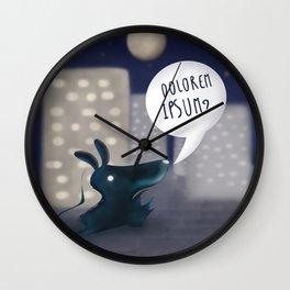 rorschach 1st animal Wall Clock