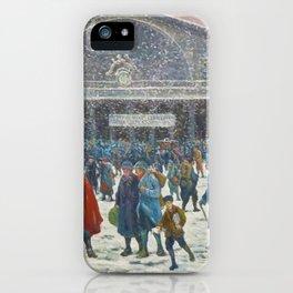 La Gare de l'Est sous la neige, 1917 Maximilian Luce iPhone Case