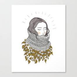 Keep the Cold Out Illustration Canvas Print
