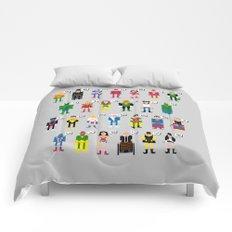 Pixel Superhero Alphabet 2 Comforters