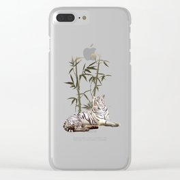White Tiger in Bamboo Forest Clear iPhone Case