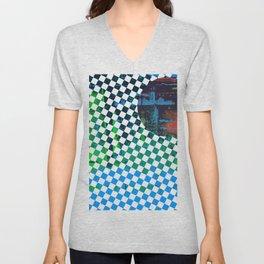 Color Chrome -circle/geometric graphic Unisex V-Neck