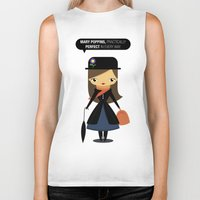 mary poppins Biker Tanks featuring Mary Poppins by oyoyoi