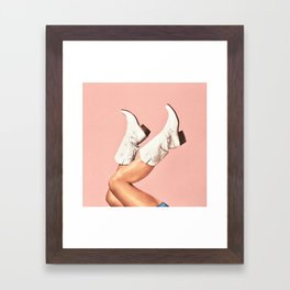 These Boots - Pink Framed Art Print